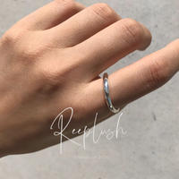 silver925 Thin Curved Ring/size:S,M,L〈Style.No.020813-25〉