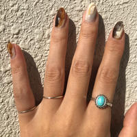 silver925 Turquoise 3 Ring Set/size:M〈StyleNo.011016-27-setrings7〉