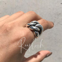 silver925 Fat Chain Ring /size: #11-17