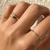 silver925  K18GP 4Set Rings < Style No.011016-setrings14>