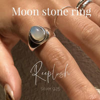 silver925  Amulet Moon Stone Ring 〈StyleNo.011016-6〉