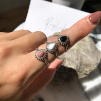 silver925 ring -Boho Stone Ring- <Style No.010904-6>  Free size(#13程度~)