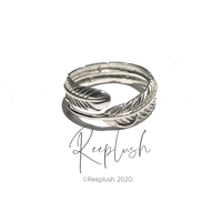silver925 Feather Ring/size:S〈Style.No.020701-6〉