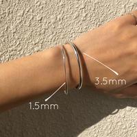 silver925 1.5mm Cuff bangle  <Style No.011016-46>