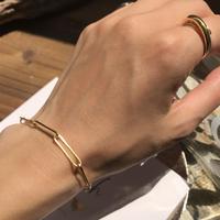 silver925  K18GP -Chain Bracelet-〈StyleNo.010724-47〉gold