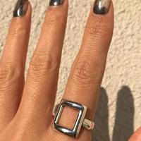 silver925 Square Ring /size:M,L〈Style.No 020203-35〉
