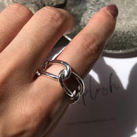 silver925 ring - 4chain Ring- <Style No.010904-38>  size:S/M