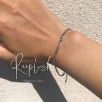 silver925 Figaro Chain Bracelet〈StyleNo.020701-17〉