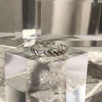 【unisex】silver925 ring RopeSilver/size:S,M,L