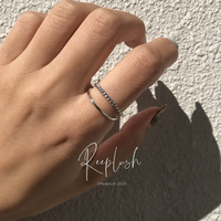 【15号ラスト1点】silver925 Thin Layered Ring /size:#15
