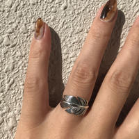 silver925 One feather ring size:M〈StyleNo.011016-10〉