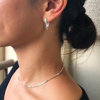silver925 Flat chain Choker 〈StyleNo.011016-7〉
