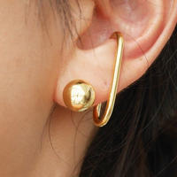 【再入荷】silver925 K18GP Gold Ball Pierce〈StyleNo.010724-20〉
