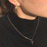 silver925 K18GP Cross Necklace/38cm 〈StyleNo.020203-78〉