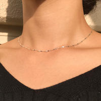 silver925 Necklace - Thin and flaky Necklace  -〈StyleNo.011016-29〉