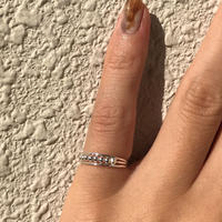 silver925 Pinky ring  lilgrains ring /size:S〈StyleNo.011016-12〉