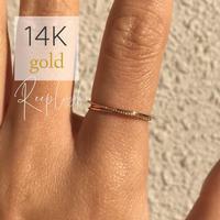 【 期間限定モニター価格】14K GOLD RING  - Olivia  - <Style No. gold02>