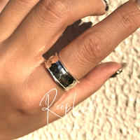 silver925  Hammer Ring /size:#9-14.5