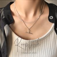 【ラスト1点】silver925  Layered Necklace/43cm〈StyleNo.020605-1〉
