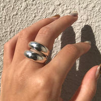 silver925 ring - Double plump ring-〈StyleNo.011016-8〉size:#13