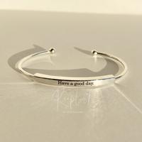 【お好きな刻印お入れします】silver925  original Message Cuff Bangle