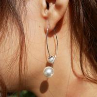 silver925 combination Pearl pierce