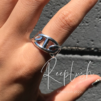 【 unisex】silver925 Buckle Open Ring/size:Free〈Style.No.020605-12〉