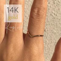 【セール除外】 14K GOLD RING  - Lily  - <Style No. gold04>