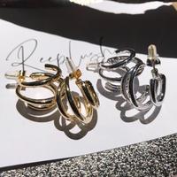 alloy 3layered  pierce〈StyleNo.010724-5〉