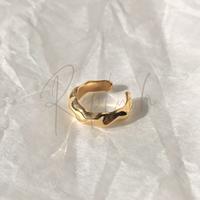 silver925 K18GP Unevenness Ear cuff