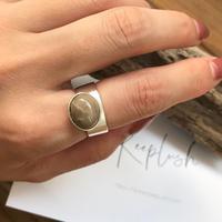 silver925 ring -GrayStone-〈StyleNo.010724-60〉 size:free