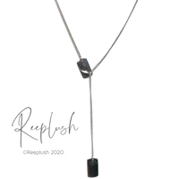 silver925 Long chain Plate Necklace〈StyleNo.020710-14〉