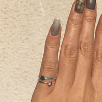 【Star edition】silver925 Luna&Star PinkyRing /size:S〈Style.No 011202-40〉