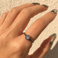 silver925 Lil Moon stone Ring /size:S,M,L〈Style.No 020203-63〉