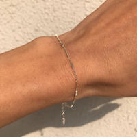 silver925 Dotted line chain Bracelet〈StyleNo.020203-139〉