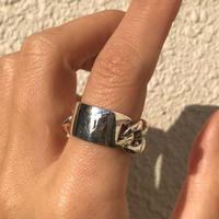 【 unisex】silver925 Chain plate Ring/size:#9-15