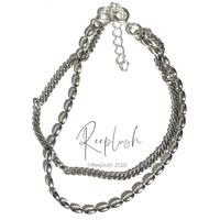 silver925 Double Chain Bracelet