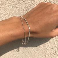 silver925 Double Snake chain Bracelet〈StyleNo.020203-137〉