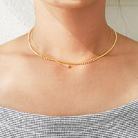 silver925  K18GP -Double strand  Chain Necklace-〈StyleNo.010724-29〉