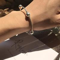 silver925 -Elastic Dotline Bracelet-〈StyleNo.010724-54〉