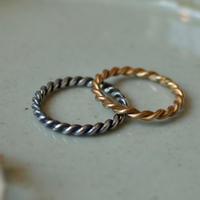 Silver W-Twist Ring [RC-RG002W]