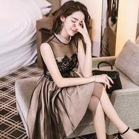 バイカラー 大人 かわいい  ワンピース 上品 フェミニン ドレス