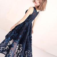 フィッシュテール スカート 刺繍  パーティドレス