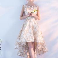 フィッシュテール スカート 花柄 結婚式 二次会 パーティー ドレス