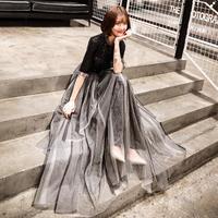 フリル タッセル ロング パーティー  スパンコール ドレープ ドレス