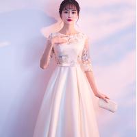 2019 結婚式 バックドアドレス スカート エレガント ドレス