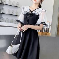 フェアリー ショルダー ブラック ドレス