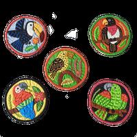 モラコースター 小鳥さん B  【5枚セット】