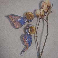 ・RIN・ 虫の羽根イヤリング(Insect wings earring)