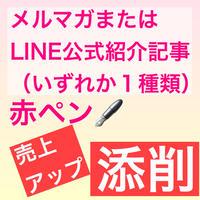メルマガまたはLINE公式紹介記事添削コース